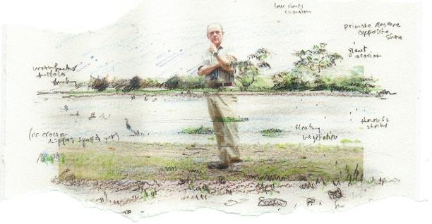 Self-portrait, Tana River 2011